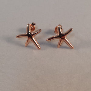 Jewelry - 18K Rose Gold Filled Starfish Stud Earrings 15mm